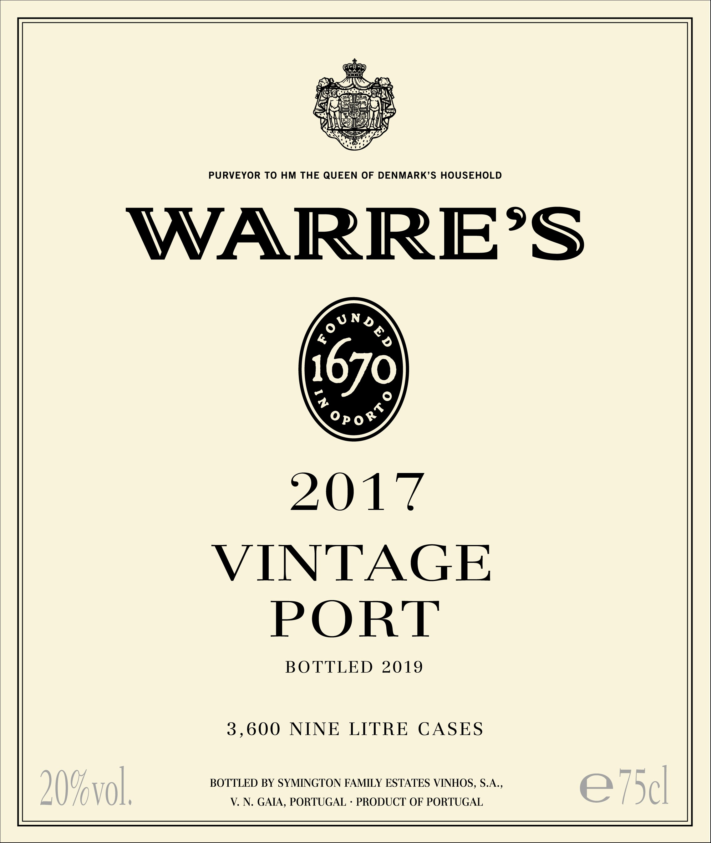 Warre's label