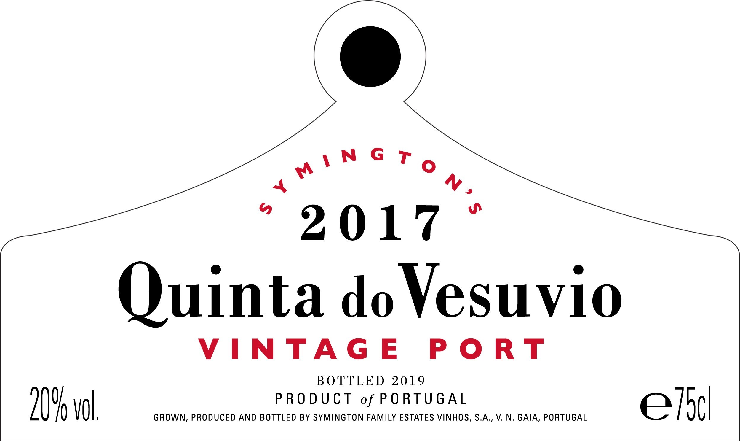 Quinta do Vesuvio label