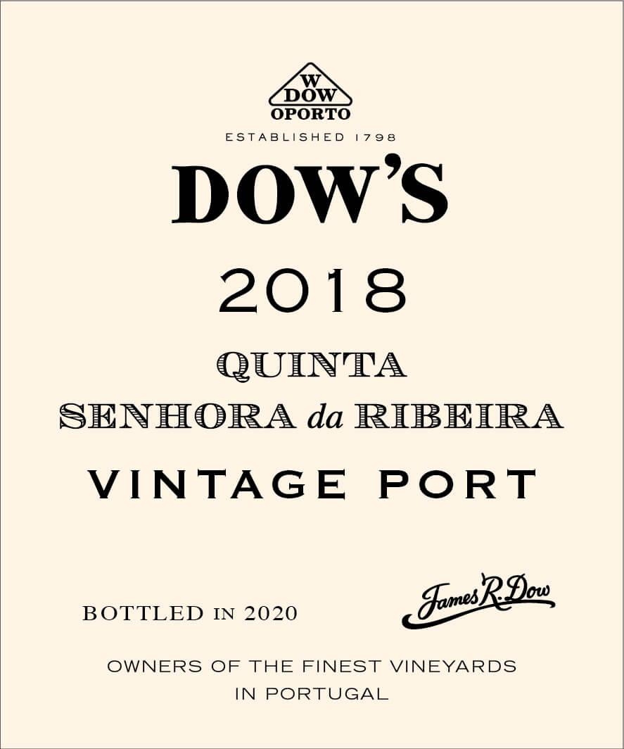 Dow's Quinta da Senhora da Ribeira label