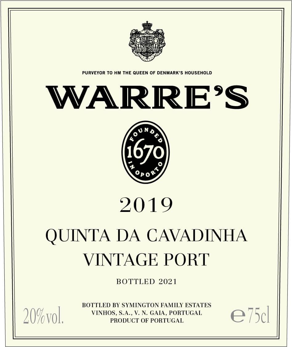 Warre's Quinta da Cavadinha label