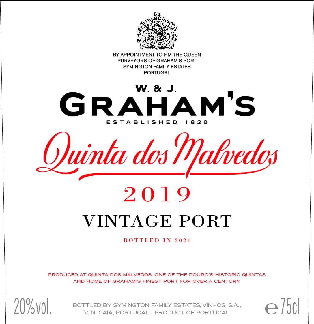 Graham's Quinta dos Malvedos label